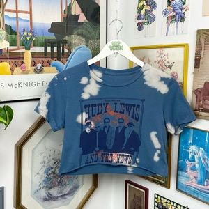 Huey Lewis & the News Cropped T-Shirt